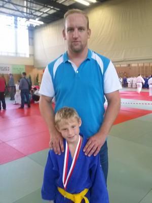 Dragan mit seinem Trainer Stefan.