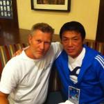 Christian Hackl mit Toshihiko Koga